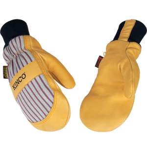 Kinco - 1927KWT - Lined Pigskin Palm Mitt with Knit Wrist
