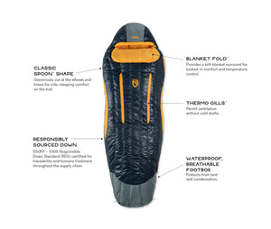 Nemo - Men's Disco 15 Degree Down Sleeping Bag LONG