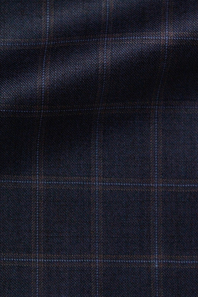 CAVANI NAVY ORANGE WINDOWPANE