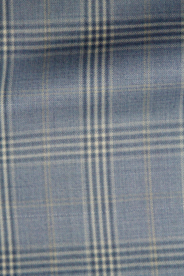 PREMIUM LIGHT BLUE GLEN PLAID