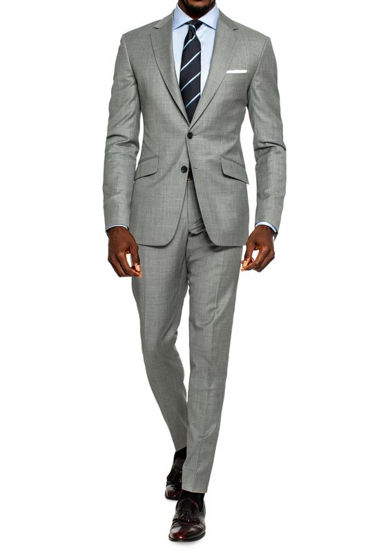 PREMIUM LIGHT GREY SHARKSKIN