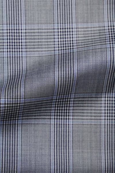 PREMIUM LIGHT BLUE AND GREY PLAID