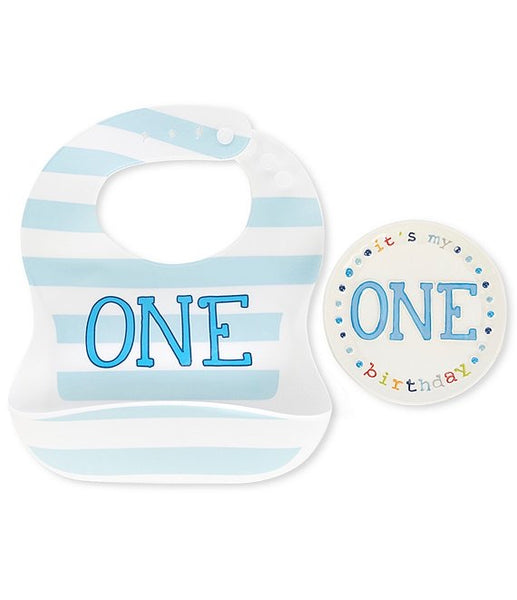 One Boy Bib plate set