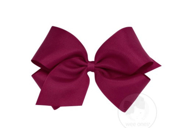 Wee Ones Grosgrain Bow Wine (Select Your Size)
