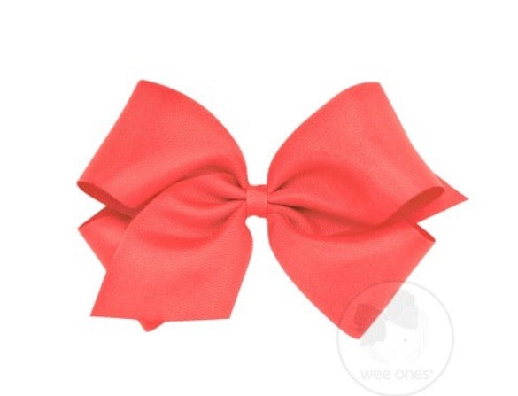 Wee ones grosgrain bow watermelon (select your size)