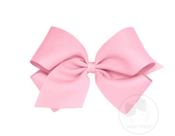 Wee Ones Grosgrain Bow Pearl Pink (Select Your Size)