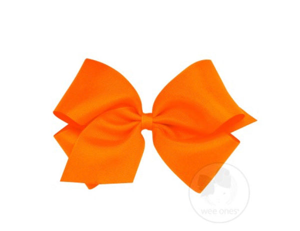 Wee Ones Grosgrain Bow Orange (Select Your Size)