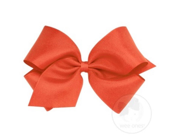 Wee ones grosgrain bow mandarin