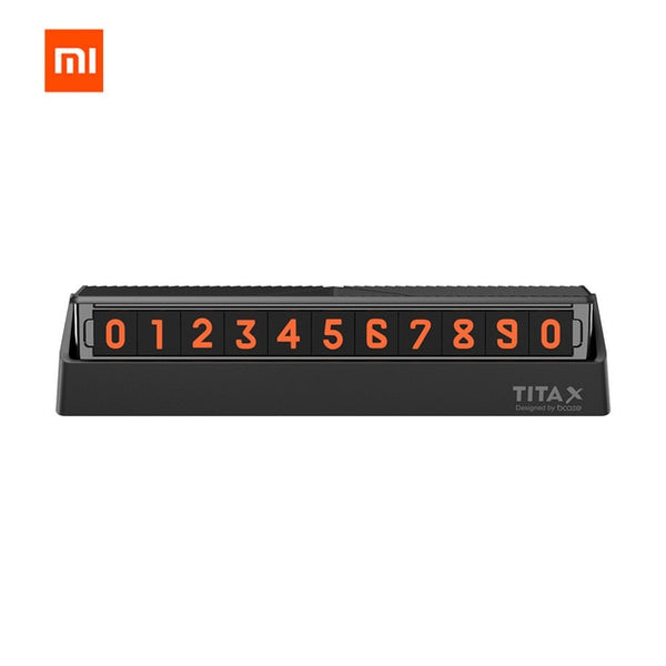 xiaomi mijia Bcase TITA  X Share To Bcase Flip Type Car Temperary Parking Phone Number Card Plate Mini