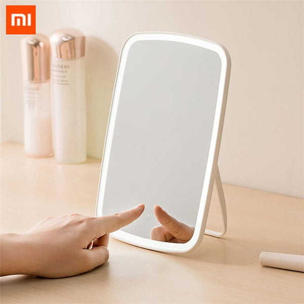 xiaomi Mijia Intelligent portable makeup mirror desktop led light portable folding light mirror dormitory desktop