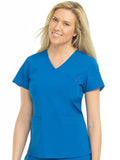 8587 V-NECK 3 POCKET TOP (Size:XS-XL)