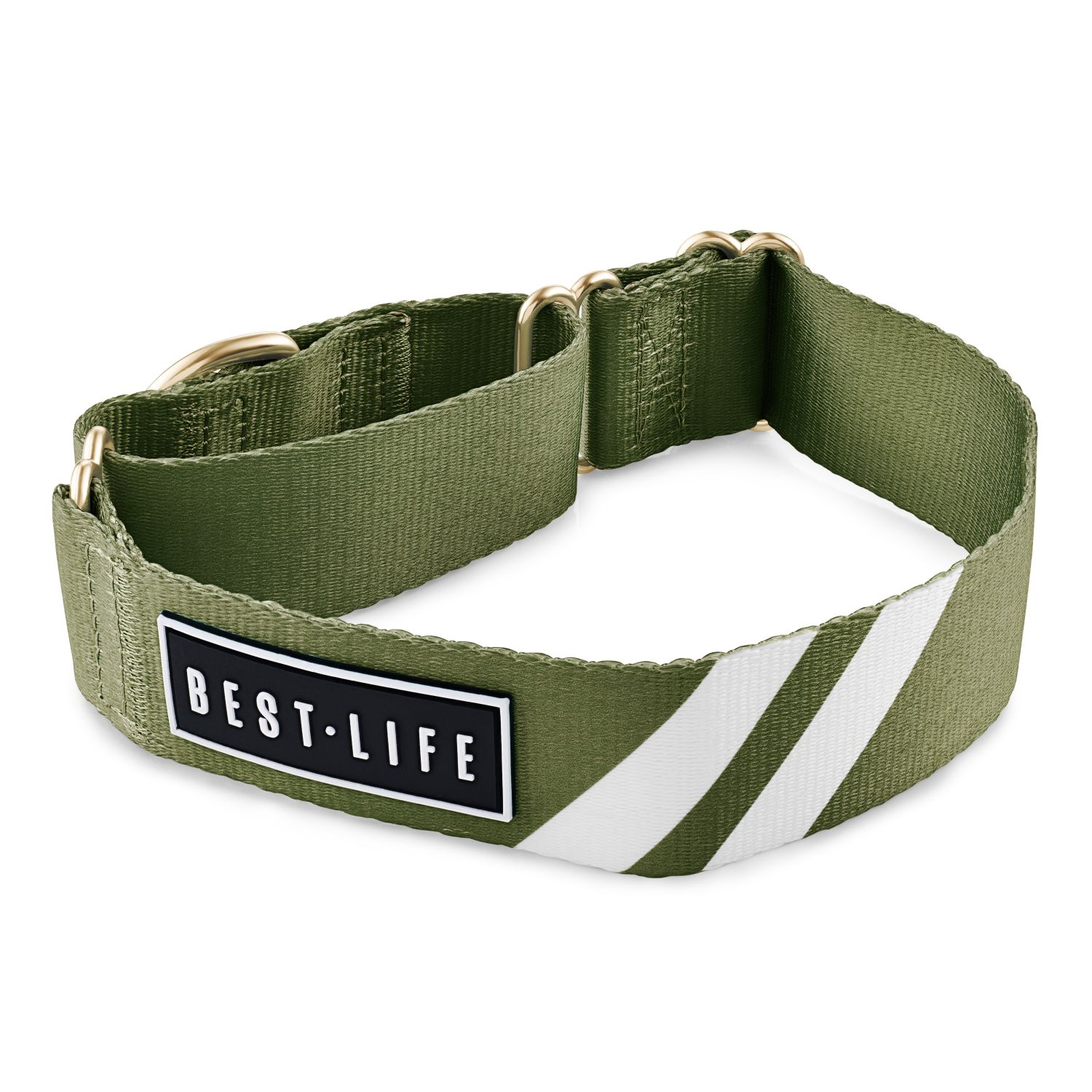 Awesome Olive - Martingale Collar collar bestlifeleashes Small 11