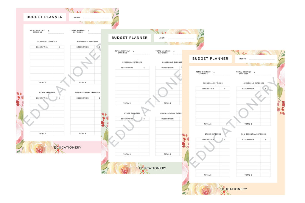 Budget Planner Floral (Digital) NEW!