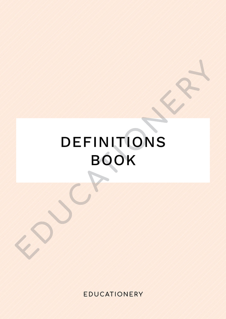 Definitions Book (Digital)