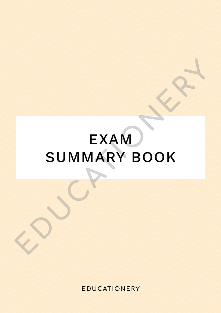 Exam Summary Book (Digital)