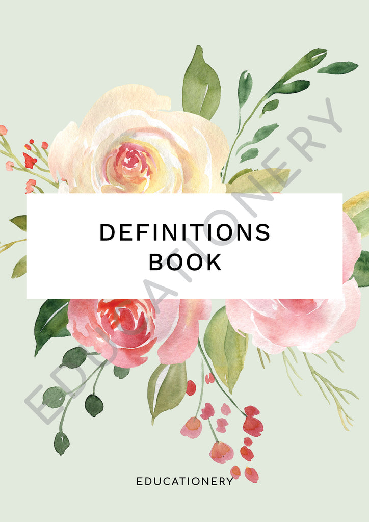 Definitions Book Floral (Digital)