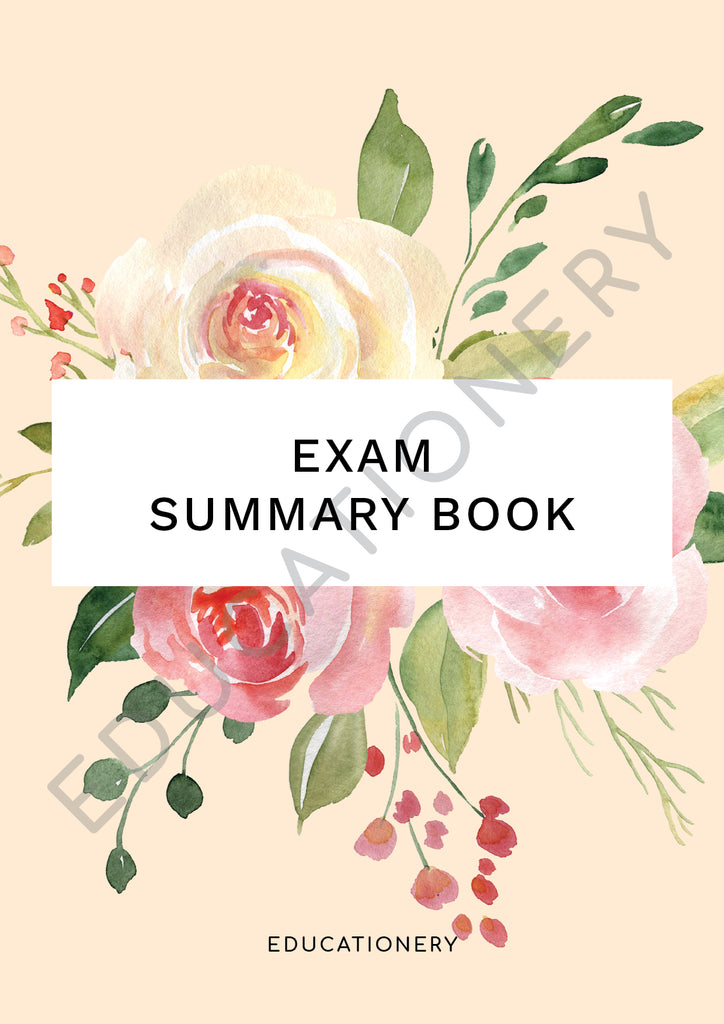Exam Summary Book Floral (Digital)