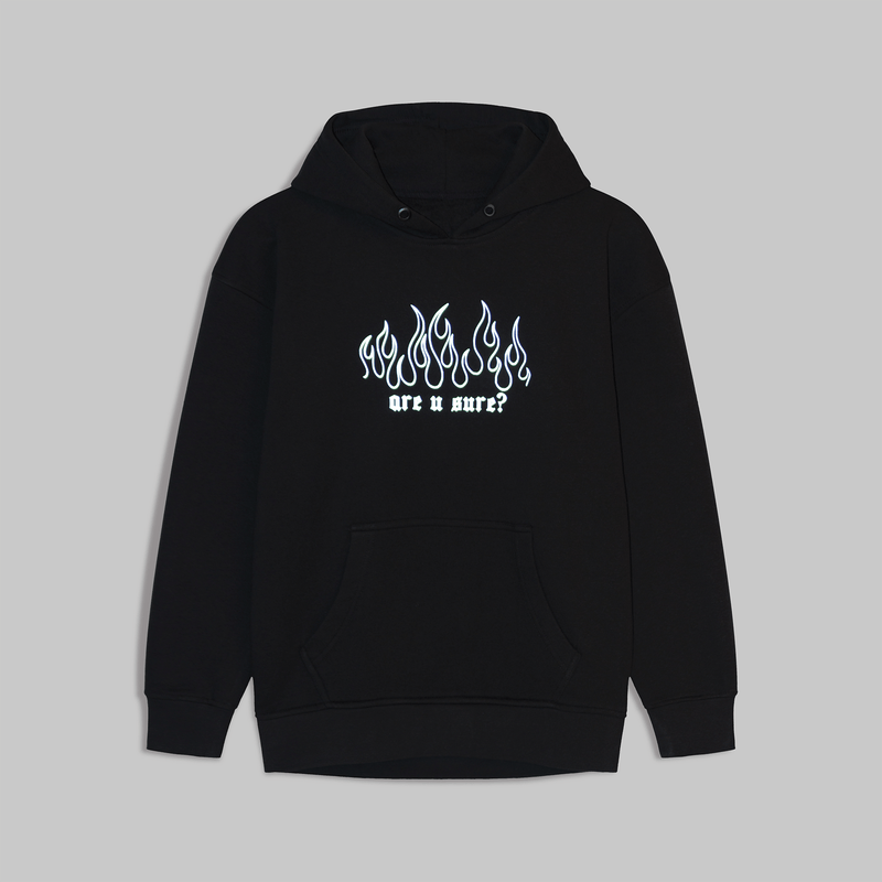 ARE U SURE? REFLECTIVE HOODIE