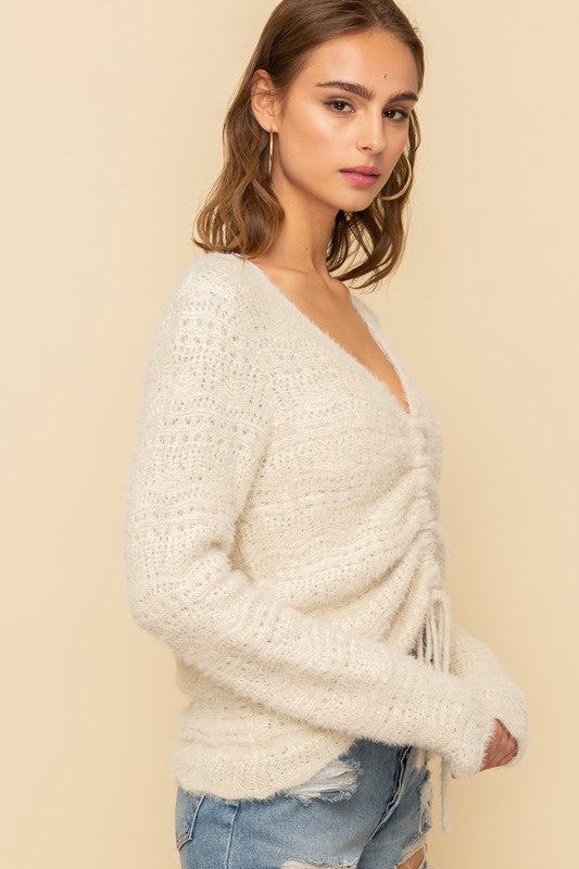 Riley Cinched Sweater