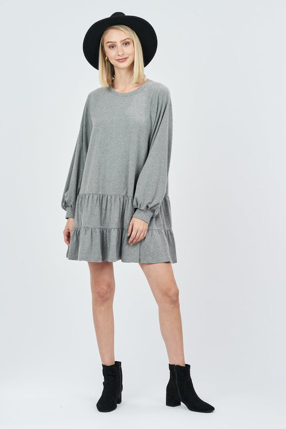 Stevie Balloon Sleeve Sweatshirt Dress