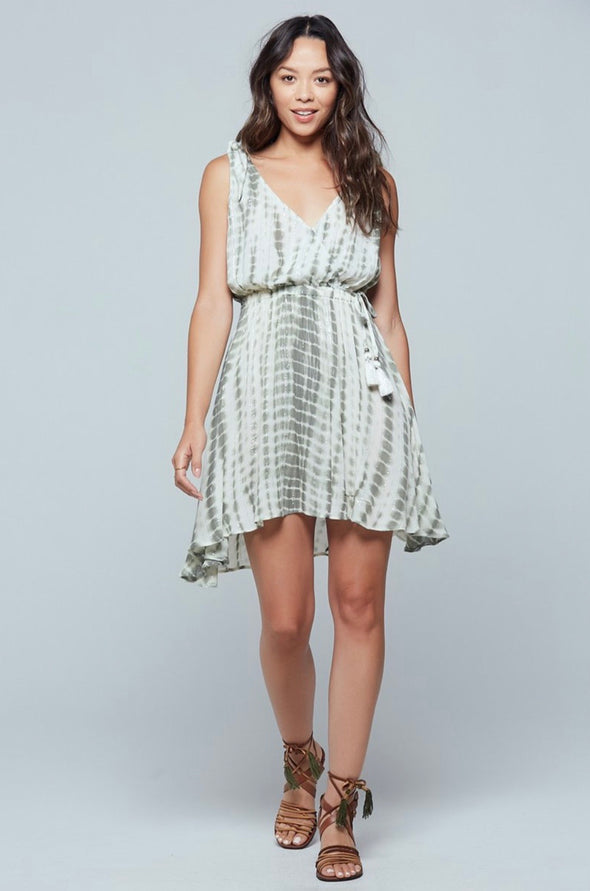 Hanoi Faux Wrap Tie Dye Dress
