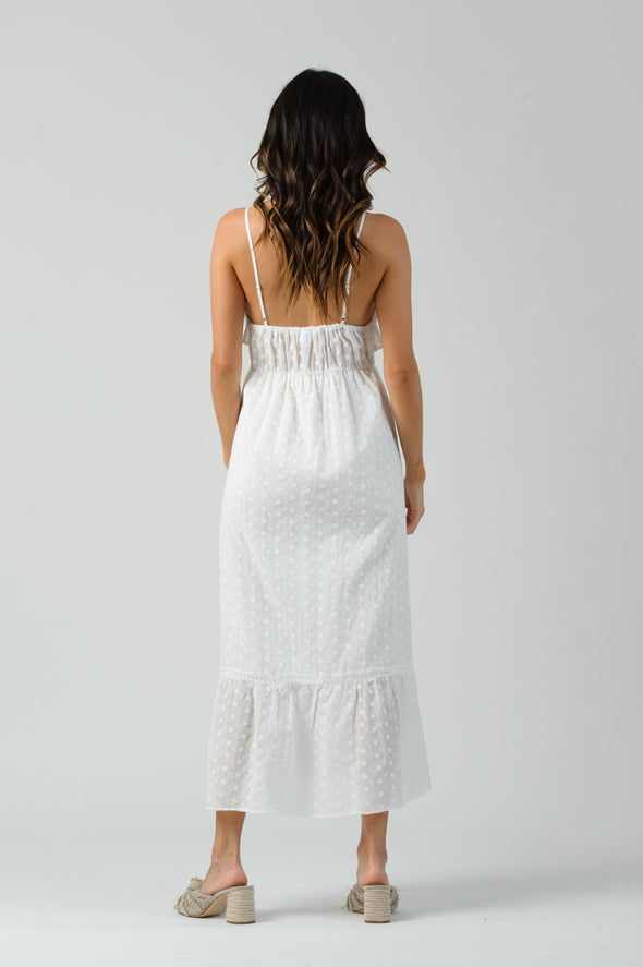Dana Eyelet Ruffle Maxi Dress