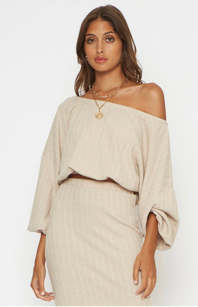 Elliott Drop Shoulder Knit Top