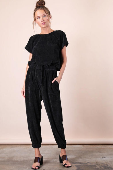 Felicity Knit Jumpsuit - Black
