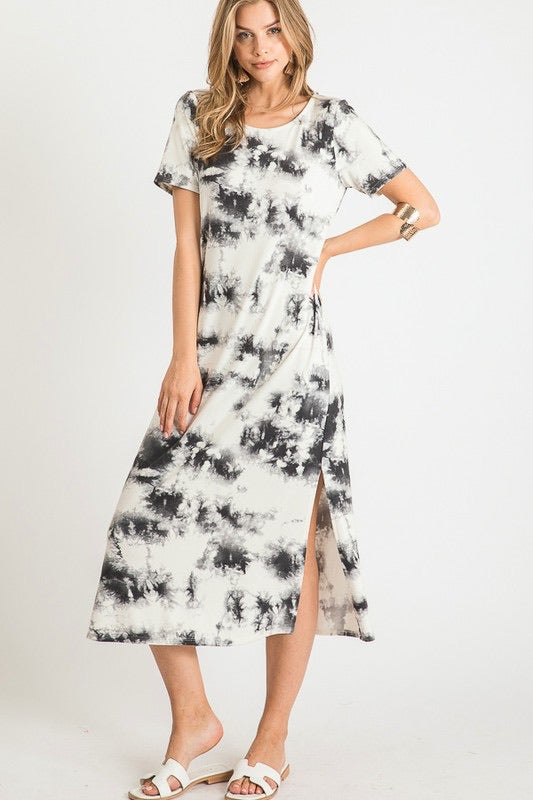 Kaya Tie Dye Midi T-Shirt Dress