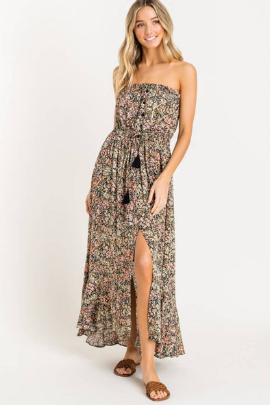 Wildflower Strapless Maxi Dress