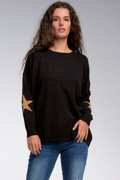 Catch a Falling Star Sweater - One Size