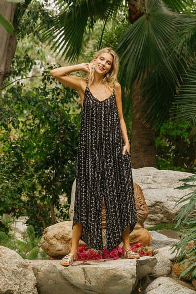 Boho Arrow Pocketed Jumpsuit