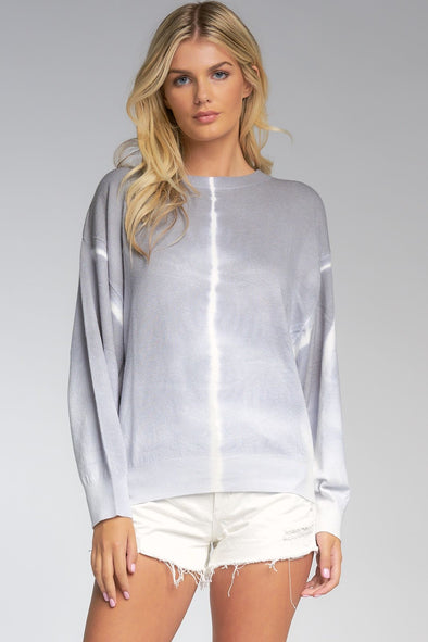 Shades of Grey Tie Dye Dolman Sweater - One Size