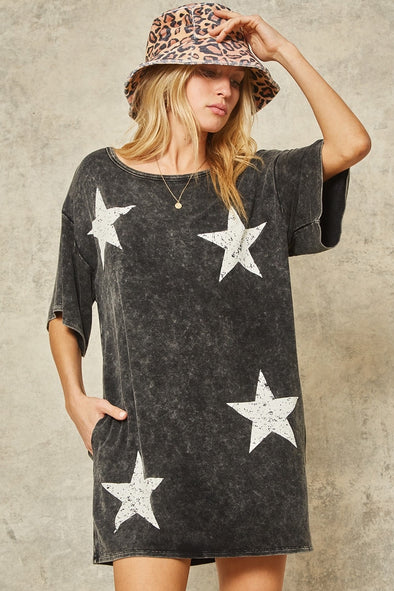 Vintage Star Mini Dress