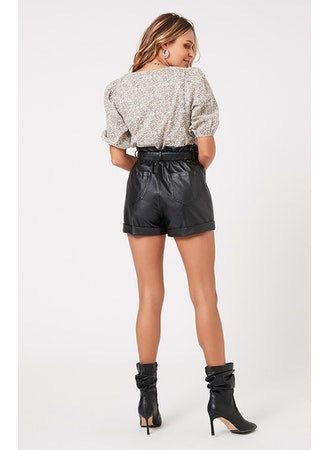It Girl Faux Leather Shorts