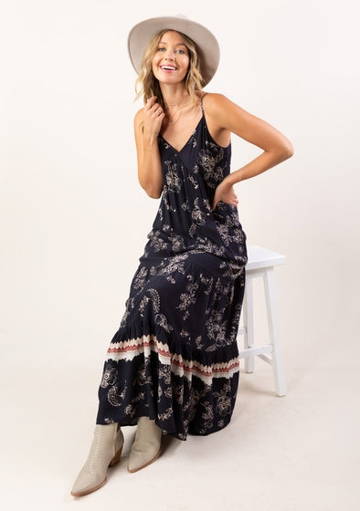 Twirl Me Boho Maxi Dress