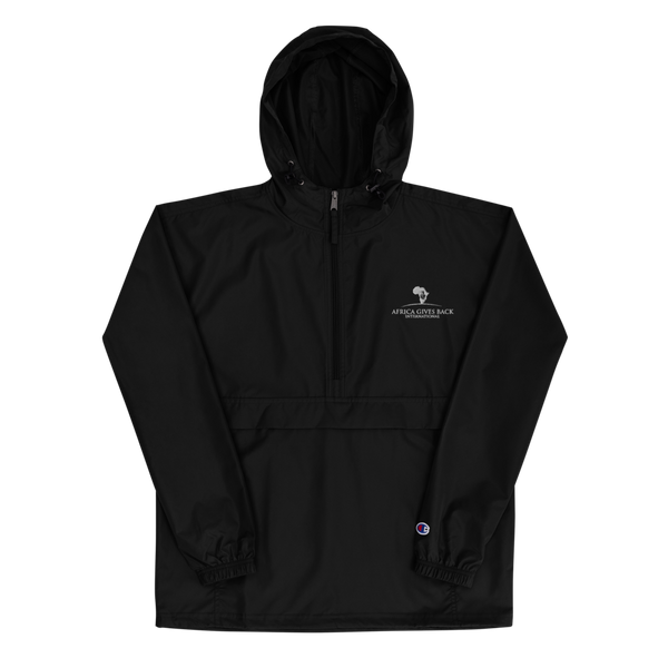 Champion Jacket - Black/Navy (Embroidered)