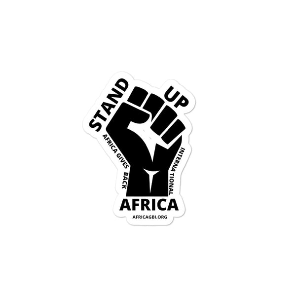 STAND UP AFRICA - STICKER