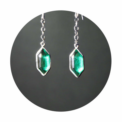 Green Rupee Earrings - Pair (Legend of Zelda Inspired)