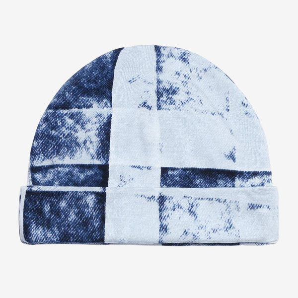 Denim Plaid Beanie - FINAL SALE