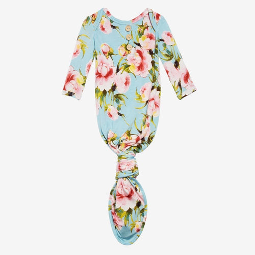 Carolina Floral Button Knotted Gown