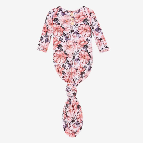 Vivi Floral Button Knotted Gown - FINAL SALE
