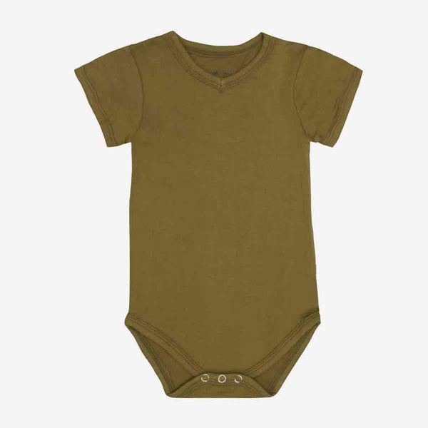 Olive Green V-Neck Bodysuit - FINAL SALE