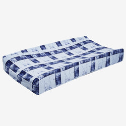 Denim Plaid Changing Pad Cover - FINAL SALE