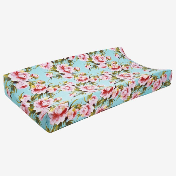 Carolina Floral Changing Pad Cover - FINAL SALE