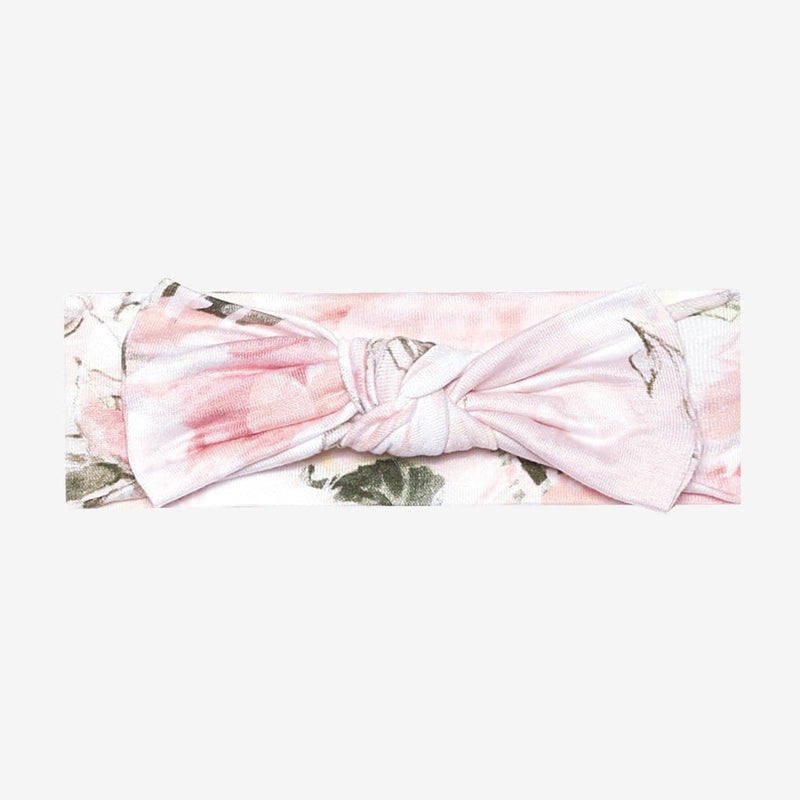 Vintage Pink Rose Swaddle Headband Set