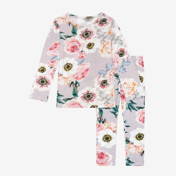 French Gray Floral Pajamas