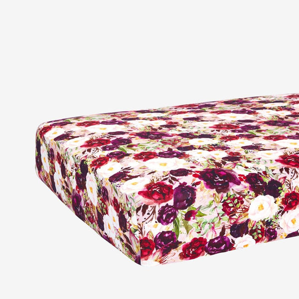 Gracie Floral Crib Sheet