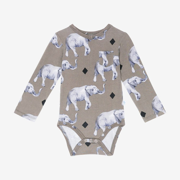 Rocco Elephant Long Sleeve V-Neck Bodysuit