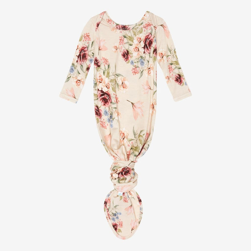 Gia Floral Button Knotted Gown